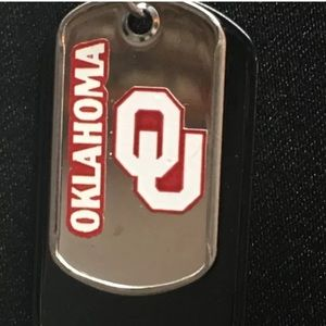 Other - Oklahoma Sooners dog tag necklace